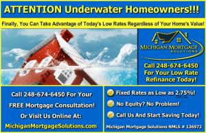 Underwater Mortgage Refinance Company Troy MI